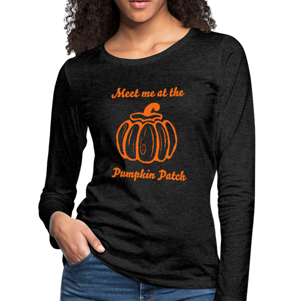 Meet me at the Pumpkin Patch Premium Long Sleeve Tee - B Inspired Boutique