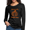 Meet me at the Pumpkin Patch Premium Long Sleeve Tee - charcoal gray