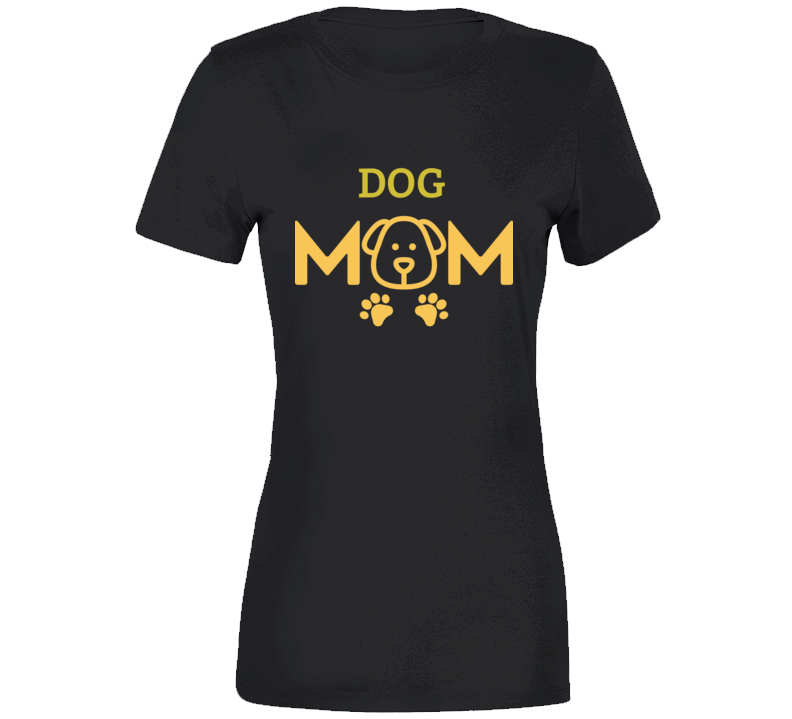 Dog Mom - Black T Shirt - B Inspired Boutique