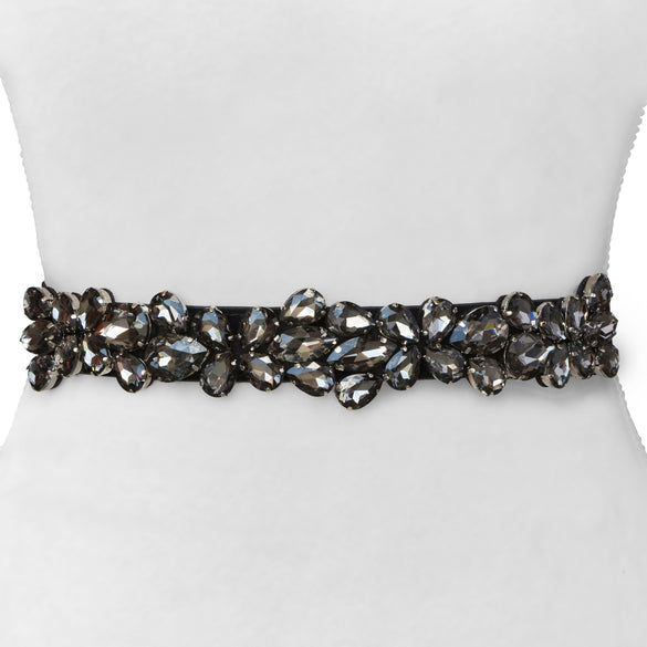 Thin Crystal Statement Belt
