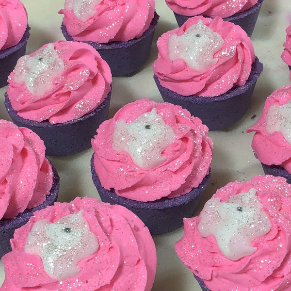 Unicorn Kiss Cupcake Bubble Bath Bombs - 5oz - B Inspired Boutique