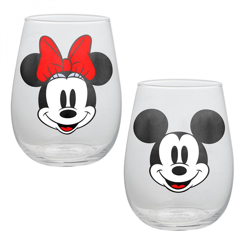 Mickey & Minnie 2-Pack Glass Set - B Inspired Boutique