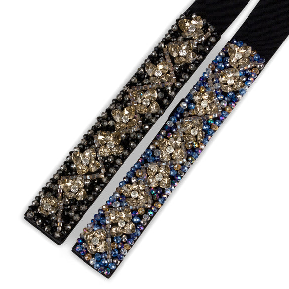Floral Thick Jeweled Statement Belt