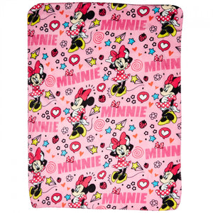 Minnie Mouse Character Doodles Throw Blanket