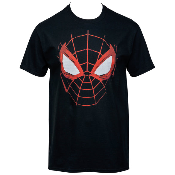 Spider-Man Miles Morales Web Face T-Shirt