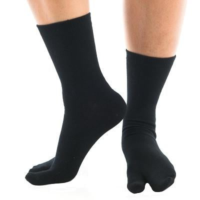 V-Toe Flip Flop Tabi Socks - Black Solid
