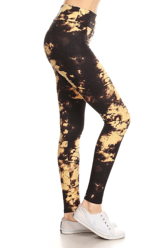 Sunshine Tie Dye Yoga Waist Leggings - One Size