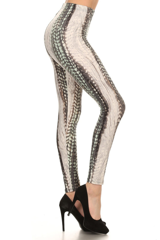 Snakeskin High Waist Leggings - One Size