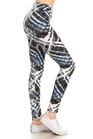 Hues of Blue Leggings- One Size
