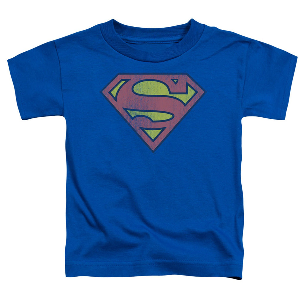 Superman Distressed Logo Toddler Tee