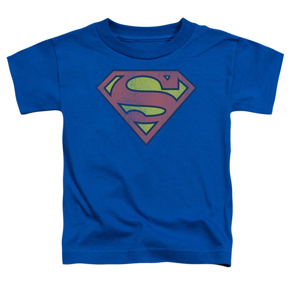 Superman Distressed Logo Toddler Tee - B Inspired Boutique