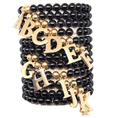 Avery - Gold Initial Bracelet - B Inspired Boutique