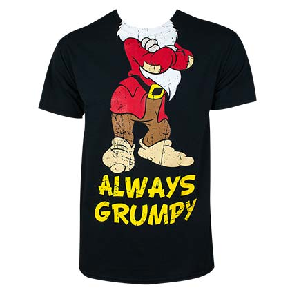 Disney Snow White Always Grumpy Black Tee Shirt - B Inspired Boutique