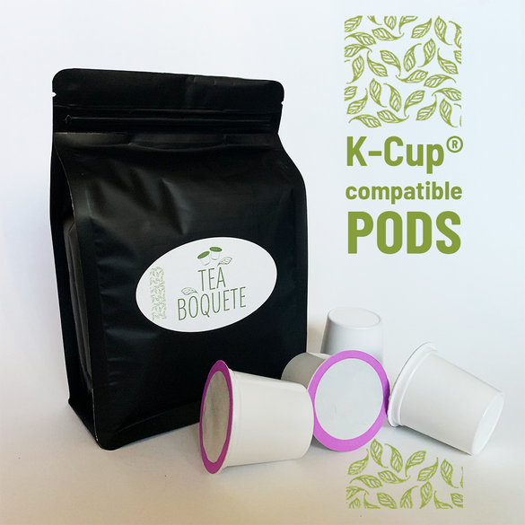Black tea and peppermint blend pods for Keurig brewers K-Cup compatible capsules
