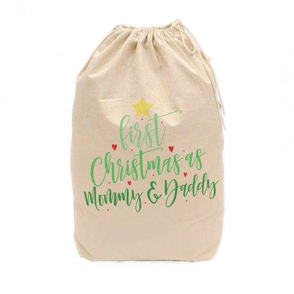 First Christmas as Mommy and Daddy Christmas Santa Sack