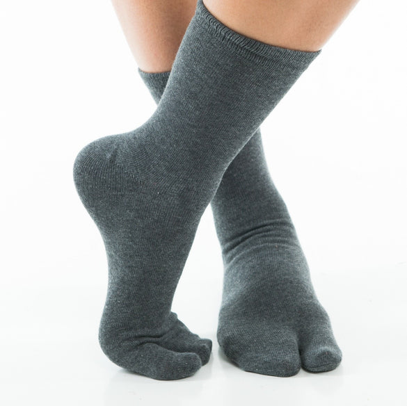 V-Toe Flip Flop Tabi Socks - Grey Solid