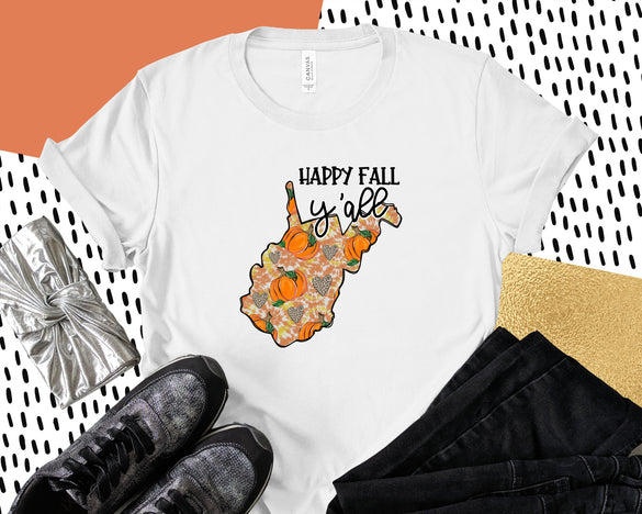 Happy Fall West Virginia Tee