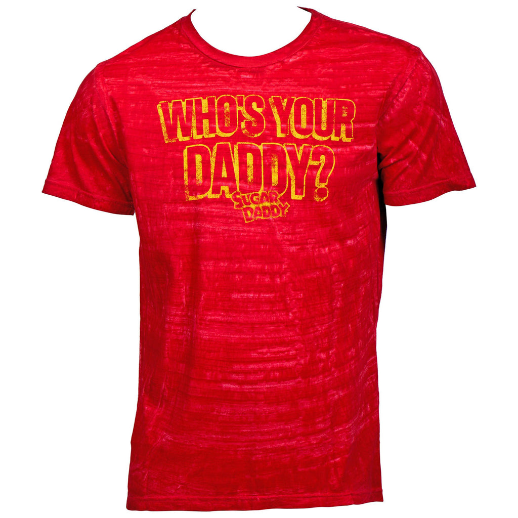 Sugar Daddy Who's Your Daddy Red Washed t-shirt