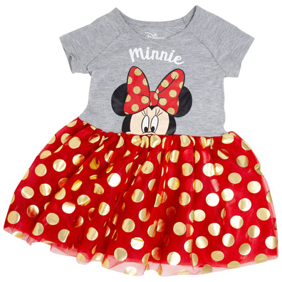 Minnie Mouse Bow Tie Youth Dress - B Inspired Boutique