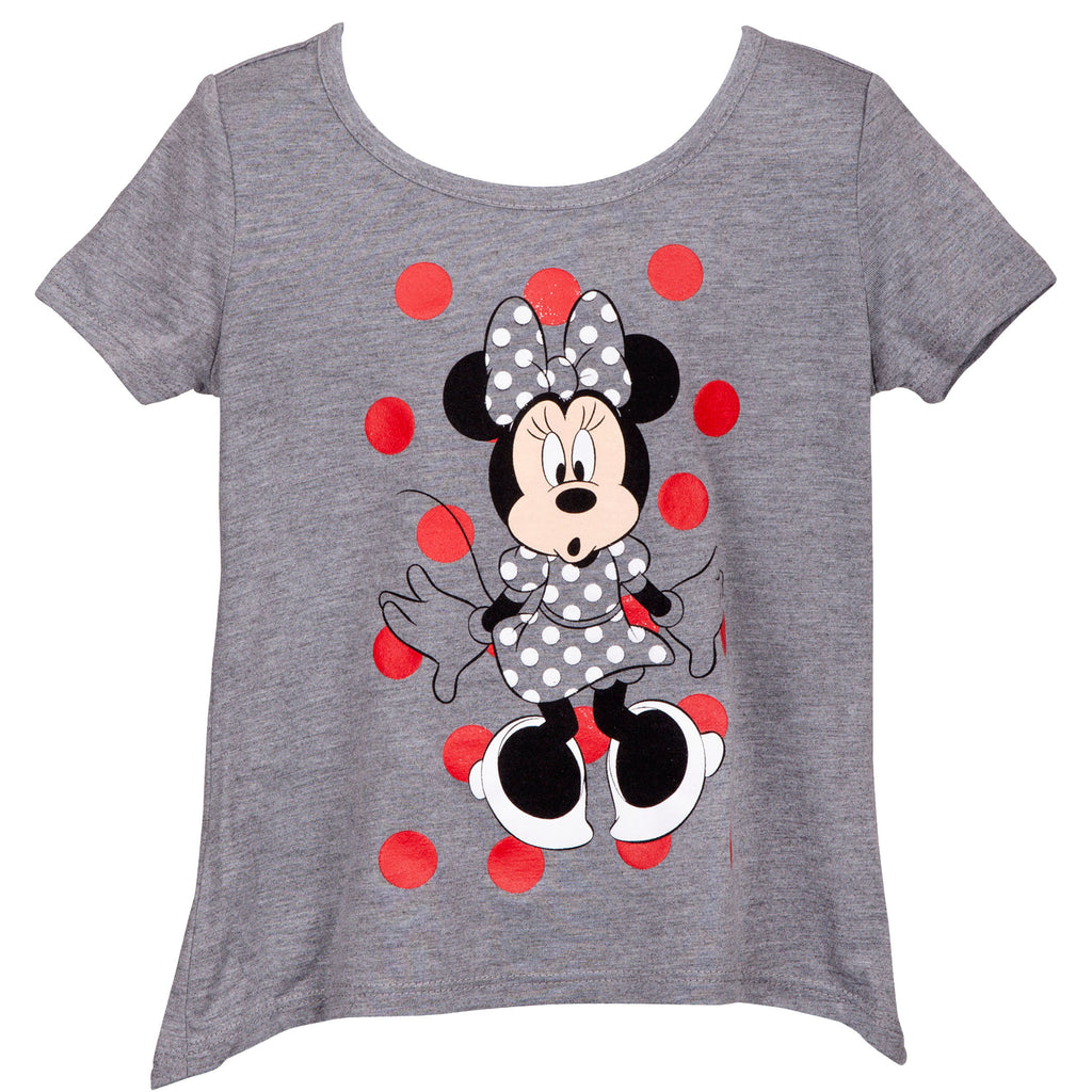 Minnie Mouse Grey Youth T-Shirt - B Inspired Boutique