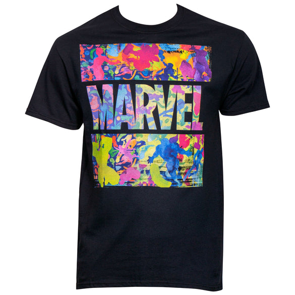 Marvel Brand Neon Paint Filter T-Shirt