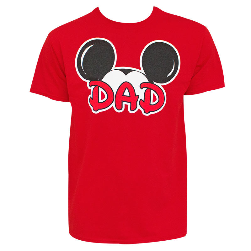 Mickey Mouse Ears Dad Red T-Shirt - B Inspired Boutique