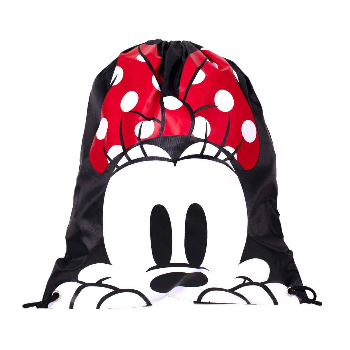 Minnie Mouse Head Drawstring Backpack