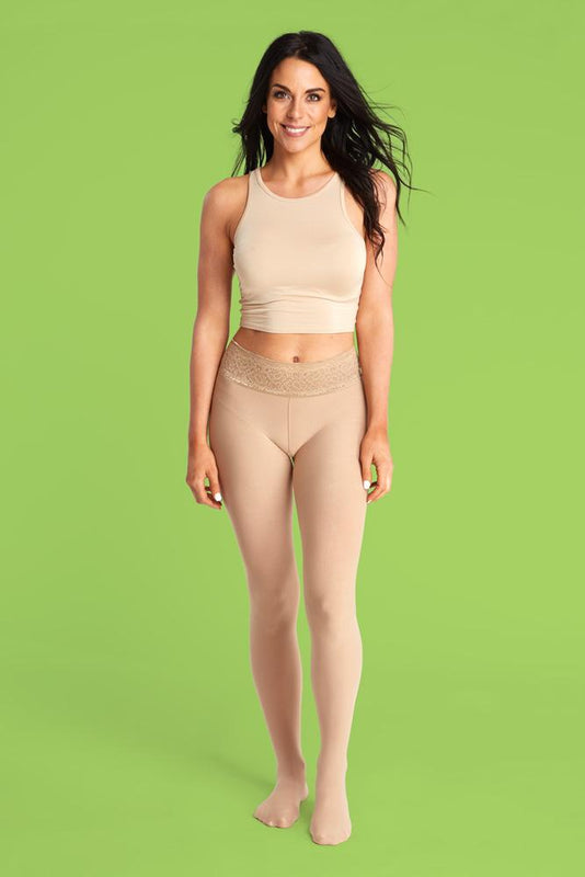Nude Opaque Tights With Comfortable Low Rise Luxe Waistband