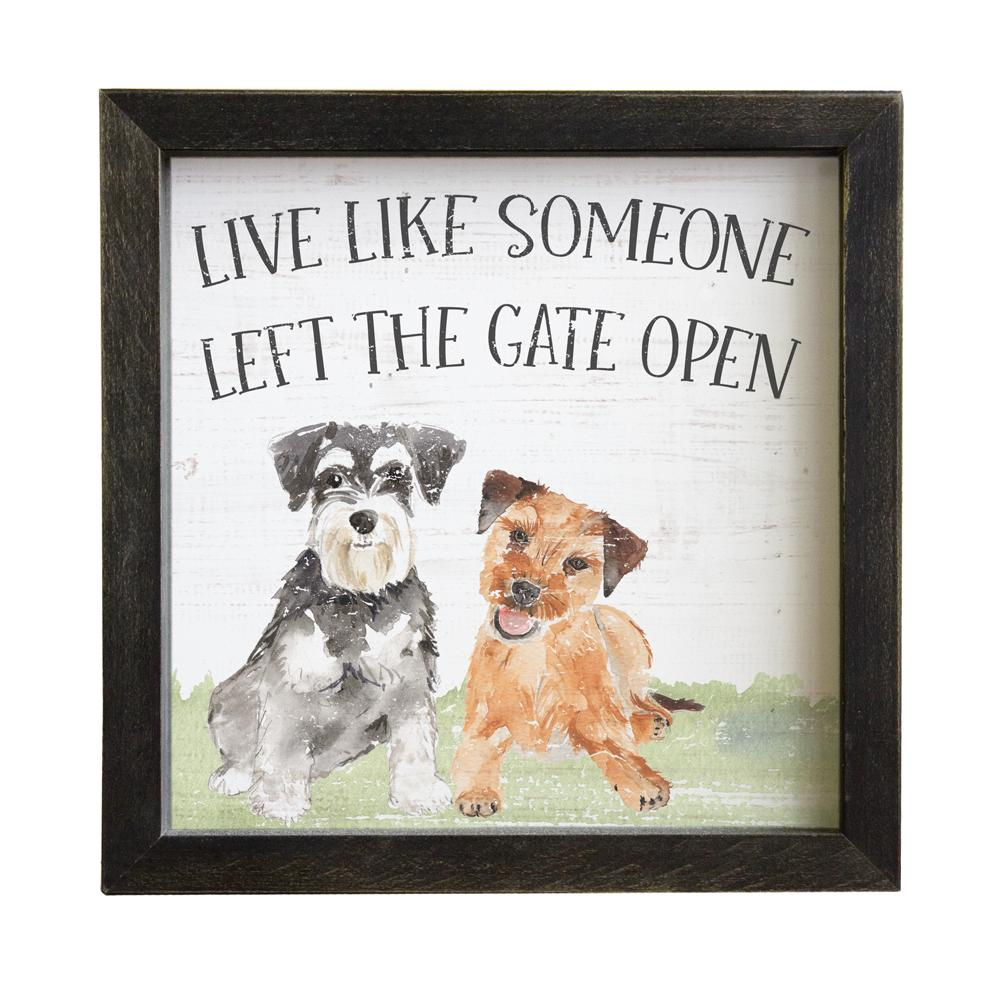 Rustic Frames - Gate Open Dogs - B Inspired Boutique