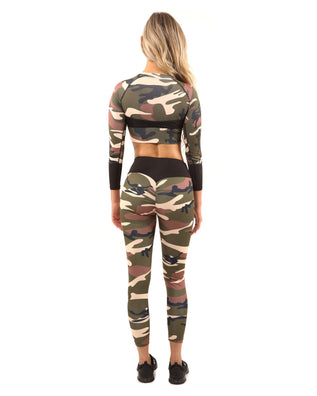 Virginia Camo Leggings - Brown/Green - B Inspired Boutique