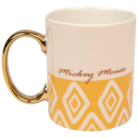 Mickey Mouse With Gold Handle 11 Ounce Ceramic Mug