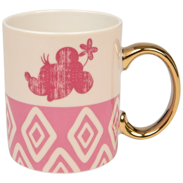 Minnie Mouse With Gold Handle 11 Ounce Ceramic Mug