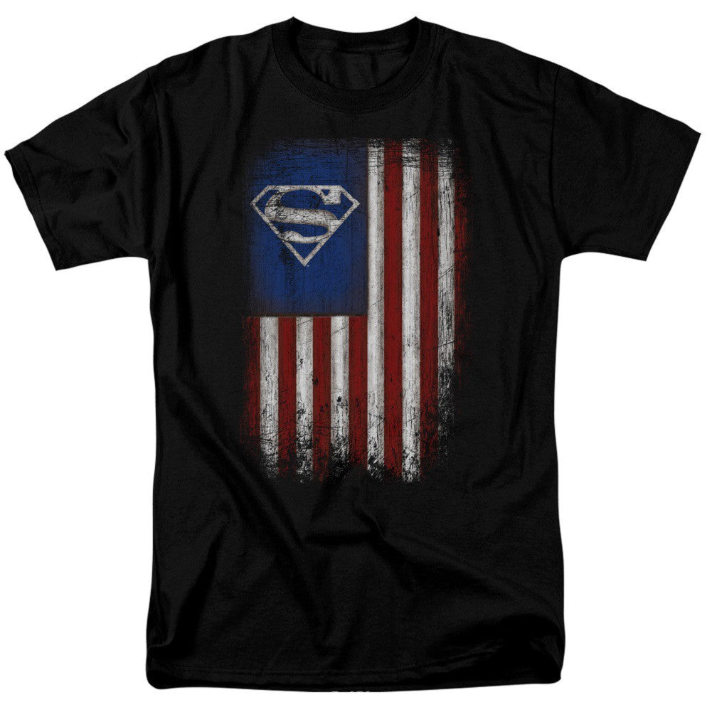 Superman Old Glory T-Shirt - B Inspired Boutique