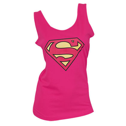 Superman Women's Pink Tank Top - B Inspired Boutique