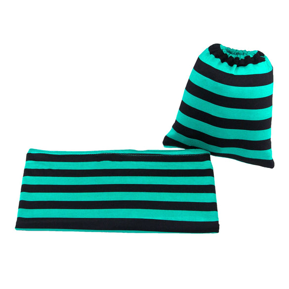 BLACK & TEAL STRIPE Versatile Baby Cover