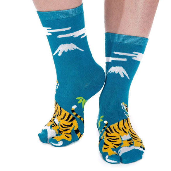 V-Toe Flip Flop Tabi Socks - Tiger Pattern