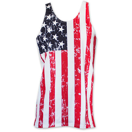 USA American Flag Men's Distressed Stars And Stripes Tank Top - B Inspired Boutique