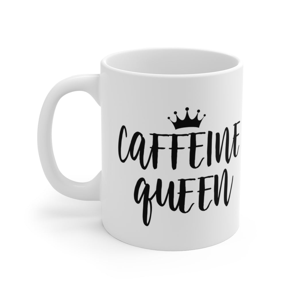 Caffeine Queen White Ceramic Mug - B Inspired Boutique