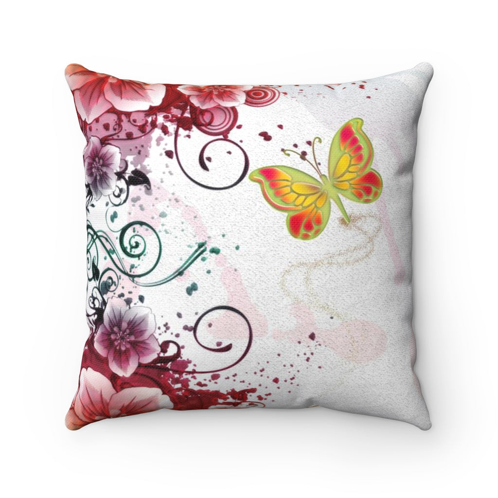 Butterfly Passion Spun Polyester Square Pillow - B Inspired Boutique
