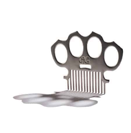 Brass Knuckles Metal Beard Comb