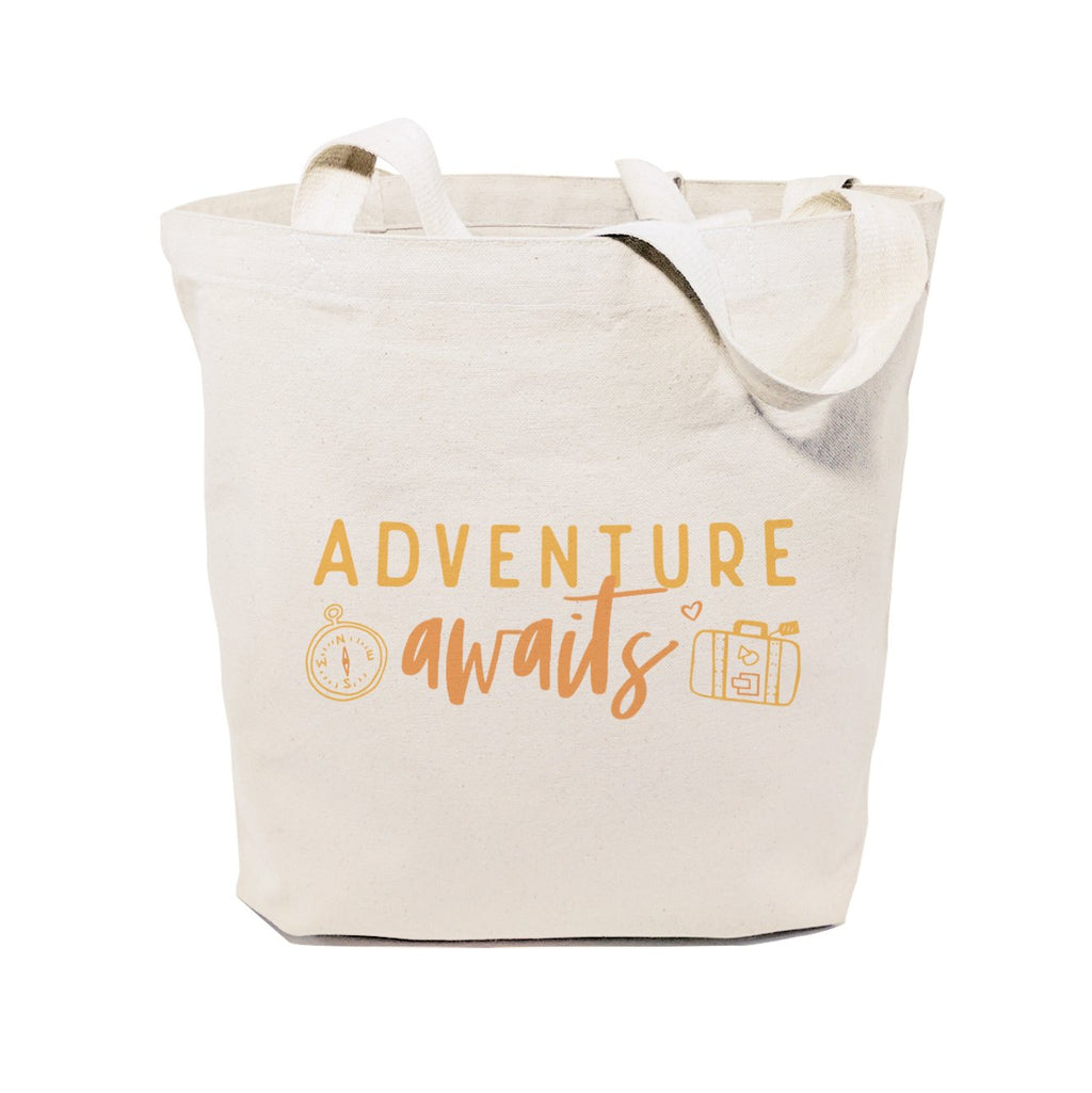Adventure Awaits Cotton Canvas Tote Bag