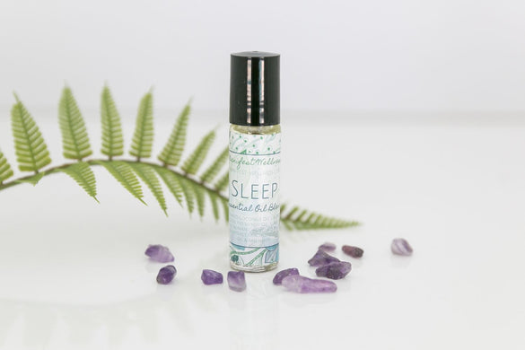 Sleep Essential Oil Blend with Amethyst Gemstones