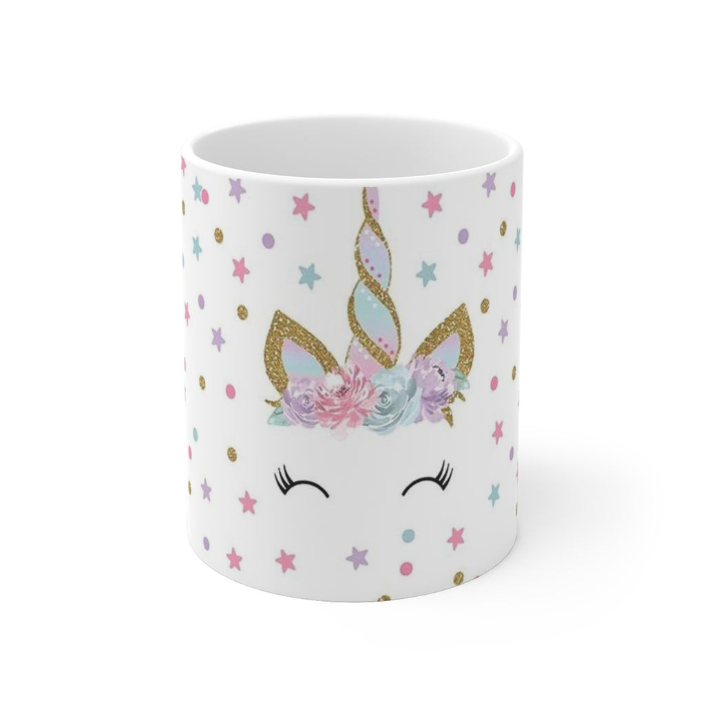 Floral Unicorn White Ceramic Mug - B Inspired Boutique