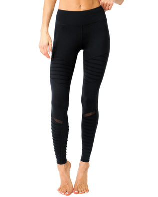 Athletique Low-Waisted Ribbed Leggings With Hidden Pocket and Mesh Panels - B Inspired Boutique