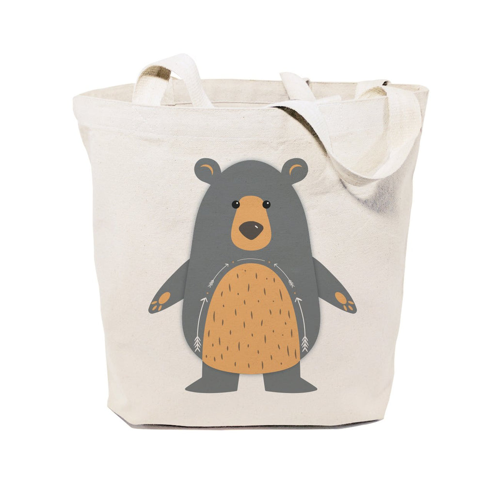 Bear Cotton Canvas Tote Bag - B Inspired Boutique