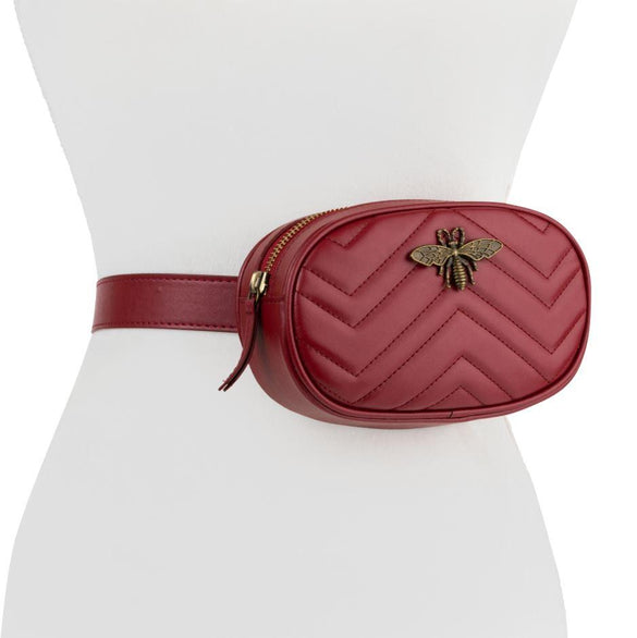 Bee Oval Fannie Pack - Burgundy