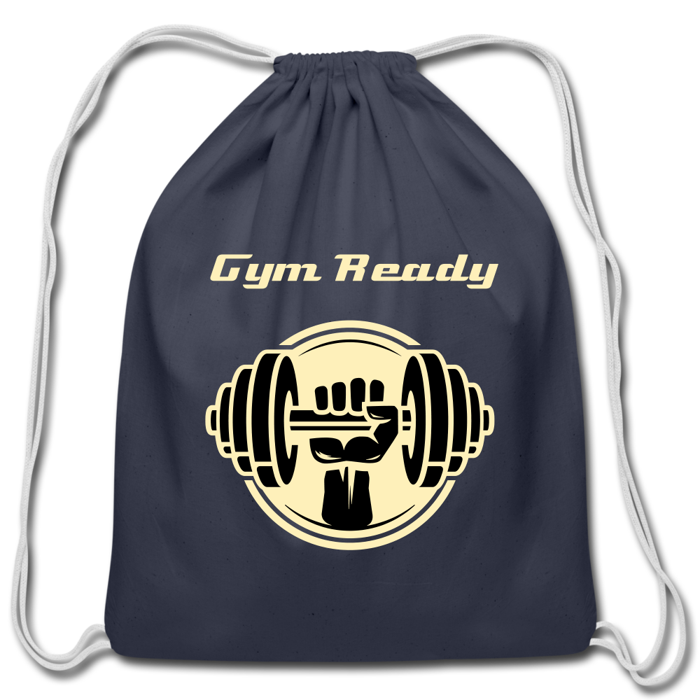 Gym Ready Drawstring Bag - navy