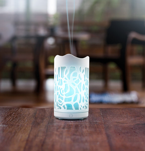 Elia - Ultrasonic Ceramic Essential Oil Diffuser w/LED changing lights - B Inspired Boutique