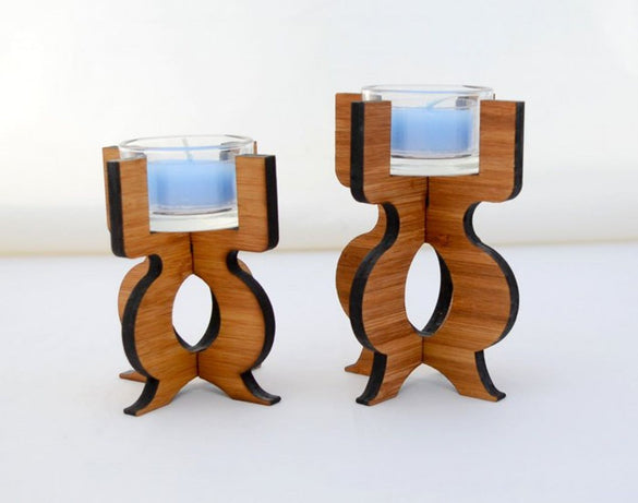Equinox Tea Light Holder in Eco-friendly Bamboo