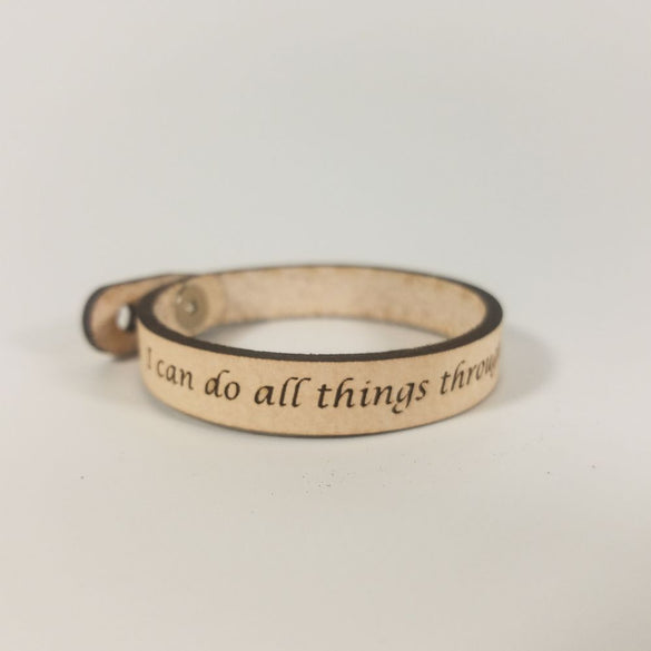Spiritual Quote Bracelets - I can do all things through him who strengthens me - Philippians 4:13